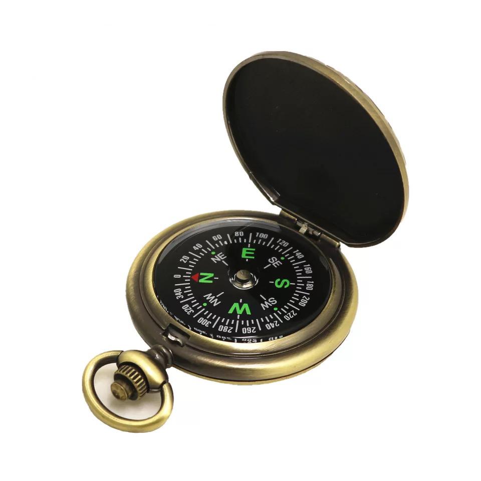 新品上架 复古怀表指南针 指北针礼品旅游户外登山指南针罗盘包邮