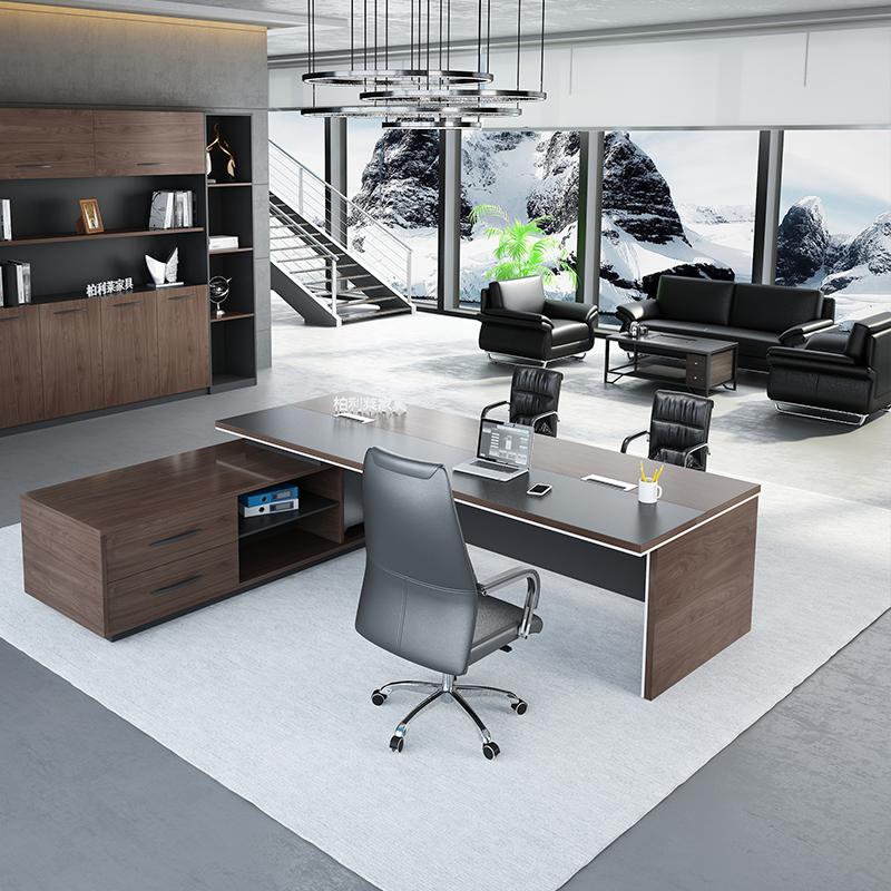 老板办公桌简约现代单人经理桌大气老总大班台办公室老板桌总裁桌