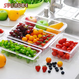 Japanese kitchen preservation box plexiglass rectangular storage box refrigerator water box large food sealbox lunch box