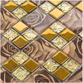 玻璃艺术马赛克家装主材 欧式客厅 电视背景墙拼图 瓷砖卫生间KTV