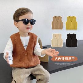辰辰妈婴童装男童针织马甲春秋季百搭1-5岁儿童毛衣开衫无袖外套图片