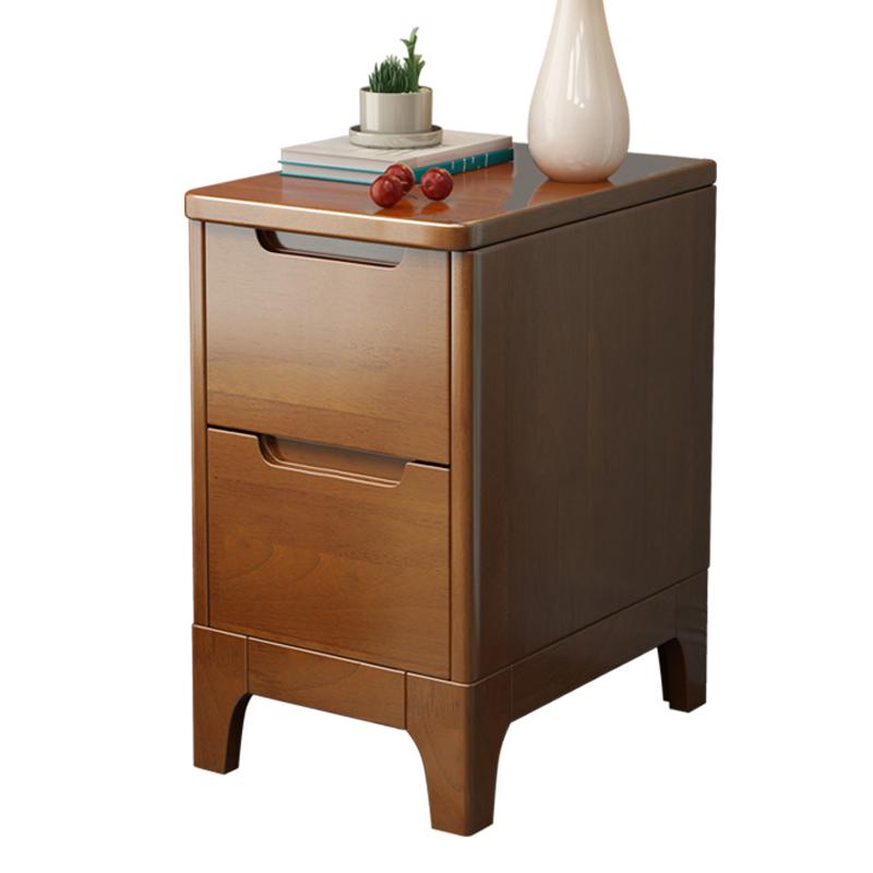 纯全实木超窄床头柜迷你橡木卧室小床边柜北欧简约小斗储物柜包邮