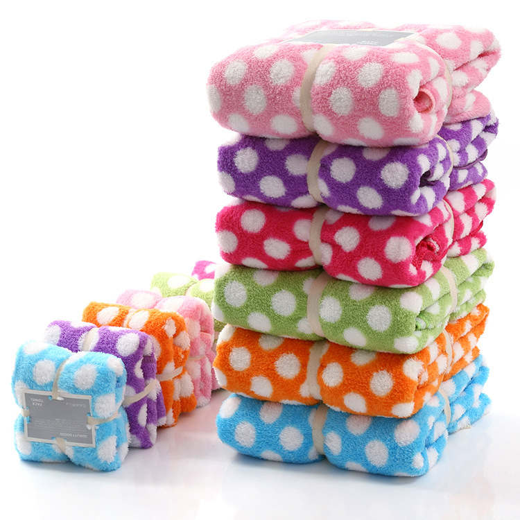 Japanese baby bath towel towel absorbent quick-drying gift bath towel coral fleece large bath towel wine