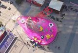Large goldfish island outdoor large inflatable amusement equipment warm-up games amusement equipment rental