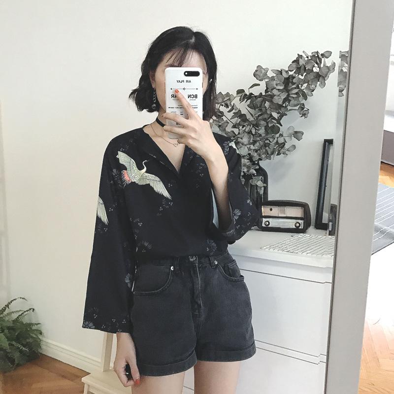女韩版时尚碎花衬衫衣百搭