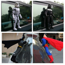Spider-man auto exterior decoration doll roof bumper sticker batman superman a funny doll furnishing articles inside and out