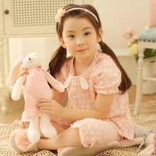 Summer children's pajamas, girls'air conditioning clothes, pure cotton gauze, thin suit, children's short sleeves, trousers and household clothes in summer