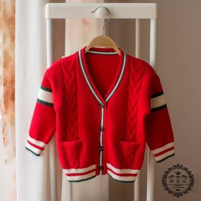 0-1-3岁2男童毛衣外套春秋装女宝宝针织开衫9婴儿衣服8红色6个月7
