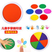 Kindergarten children large finger painting ink can wash the paint pigment palm print graffiti painted hand print plate