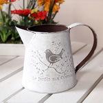 法美式乡村铁皮桶 复古做旧铁艺园艺花器 田园花插花瓶花桶洒水壶