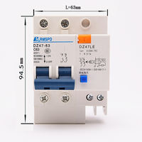 Leakage switch DZ47LE2P63A air switch with leakage protector open circuit breaker C45