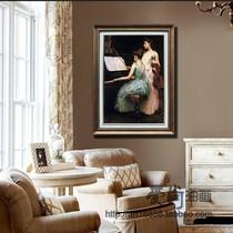 DL241简约欧式古典手工手绘油画玄关有框装饰画静物水果餐厅挂画