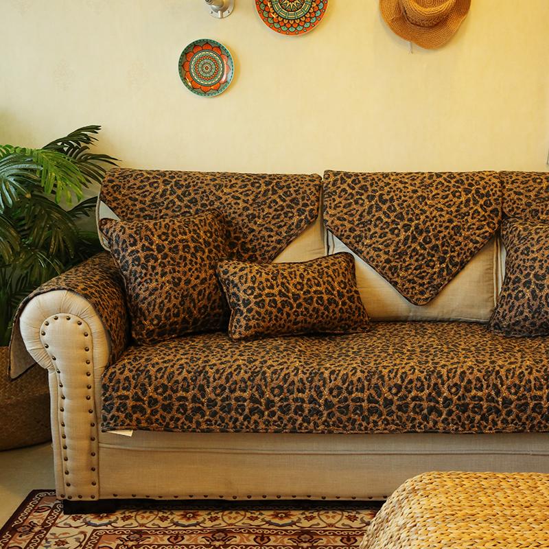 豹纹沙发垫