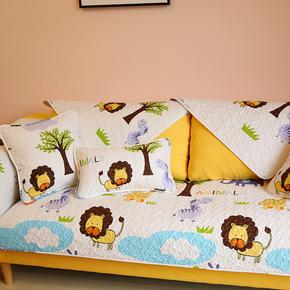 时尚卡通沙发垫可爱四季通用布艺皮沙发巾韩式简约沙发套罩可定做