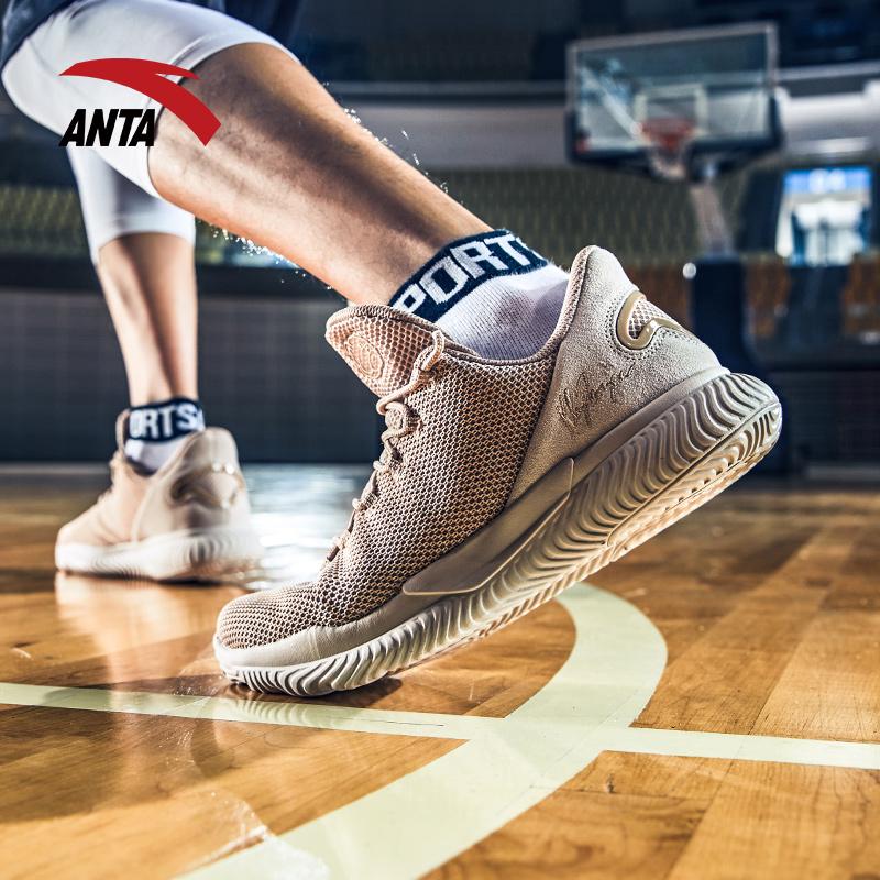 安踏篮球鞋男鞋网面透气2018夏季新款汤普森KT要疯战靴低帮运动鞋