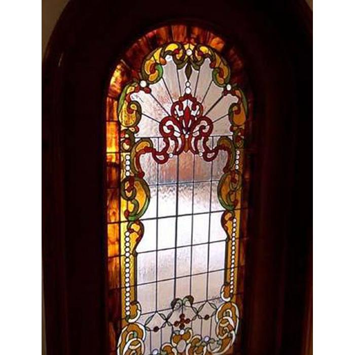 彩色艺术装饰玻璃门窗镶嵌教堂彩绘玻璃玄关隔断彩色琉璃玻璃吊顶