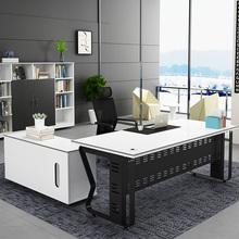 广州办公家具 老板桌简约现代大班台办公桌板式 经理桌主管桌