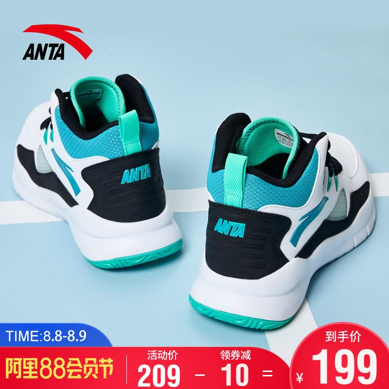 安踏篮球鞋男鞋汤普森战靴2019秋季新款官网气垫高帮球鞋运动鞋子