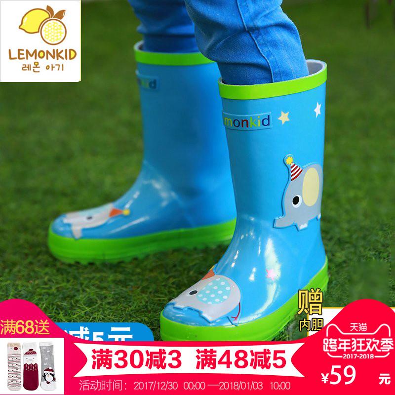 韩国儿童雨鞋男童女童防滑雨靴宝宝水鞋儿童雨靴学生小孩四季胶鞋3元优惠券