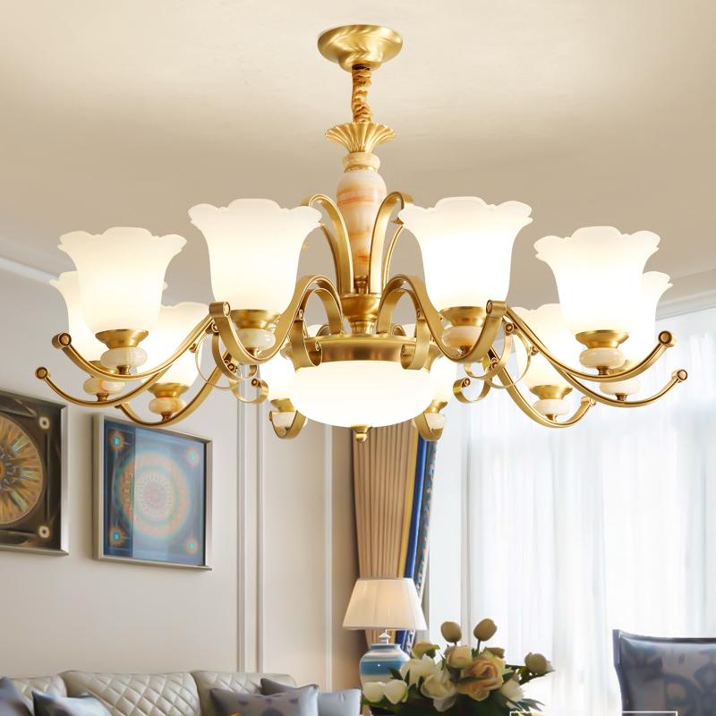 欧式吊灯 纯铜客厅灯