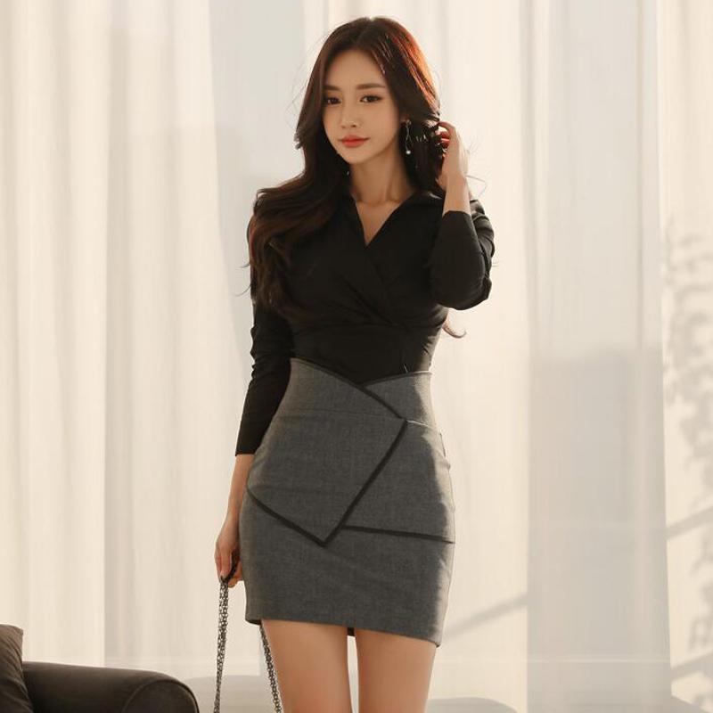 包臀裙套装秋冬长袖