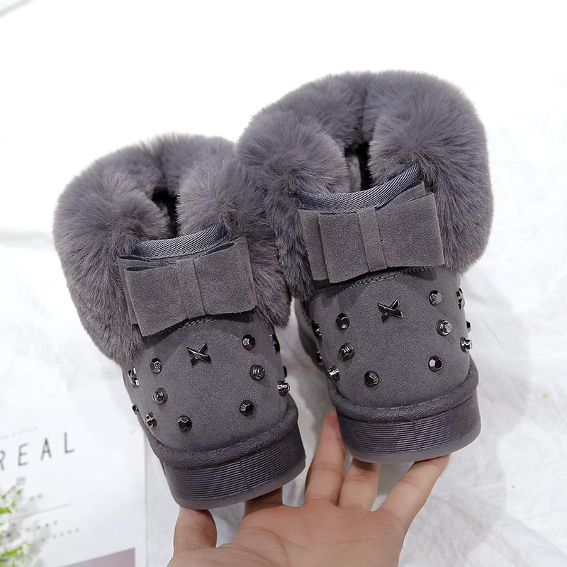厚底加厚雪地靴女