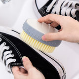 Oval household plastic shoes brush clothes shoes egg type small board brush housework cleaning color soft shoes brush