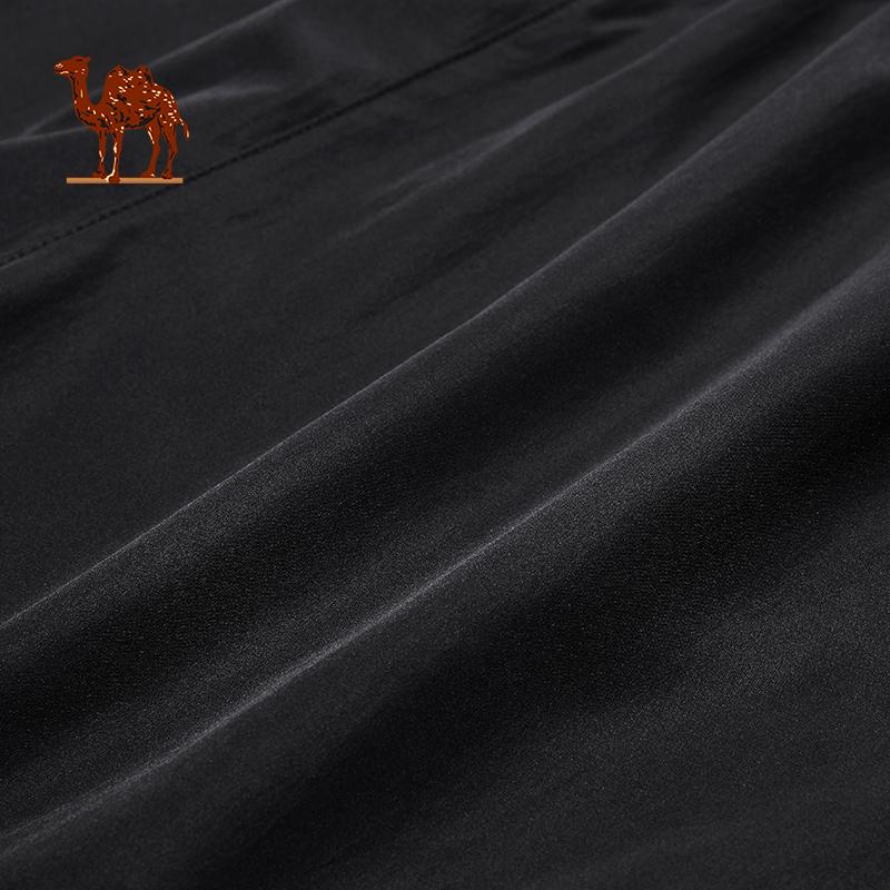 骆驼运动套装 速干衣男 透气运动T恤宽松短裤跑步健身五分裤短袖