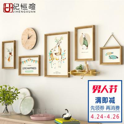 客廳裝飾畫組合沙發背景墻墻畫北歐風格掛畫現代簡約餐廳墻面壁畫什么牌子好