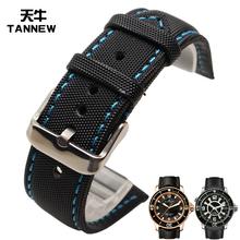 天牛碳纤纹尼龙手表带适配Blancpain宝珀五十系列竞潜系列