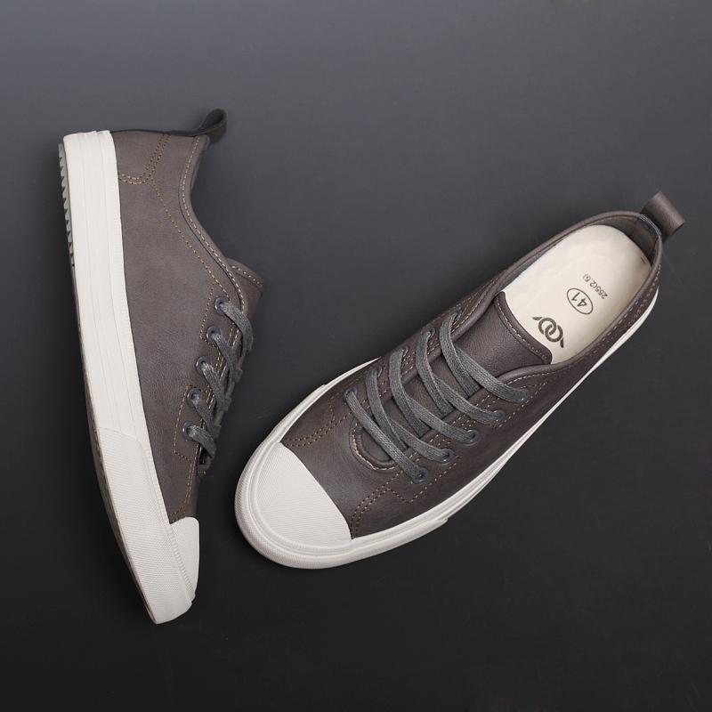 男鞋春季潮鞋2019新款男板鞋休闲皮鞋男韩版潮流鞋子英伦时尚百搭