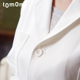 Cheng Dazhimei Japanese doctors pharmacy laboratory clothes white 褂 women long-sleeved doctor uniforms doctors hospitals