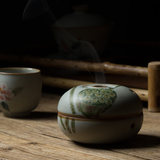 Dexin Pavilion handmade Jingdezhen ceramic hand-painted flowers figure ancient Zen incense burner tower incense coil incense stick incense