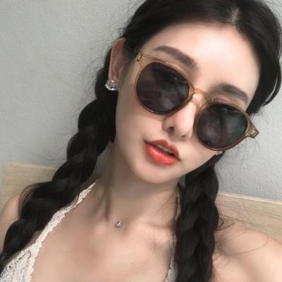 蹦迪眼镜女款韩版潮复古防紫外线近视墨镜圆脸网红街拍太阳镜ins