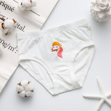 Xuanze Xuanze Children's Underwear All Cotton Girls Painted Lace Triangle Comfortable