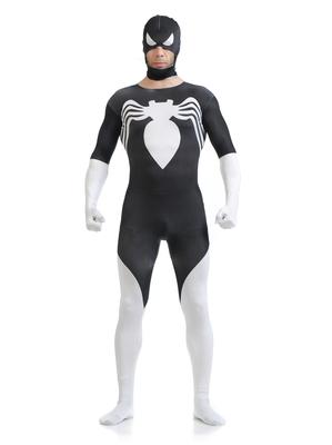 动漫服装cosplay制服莱卡印染 黑白款蜘蛛侠全包衣ZENTAI 包邮旗舰店