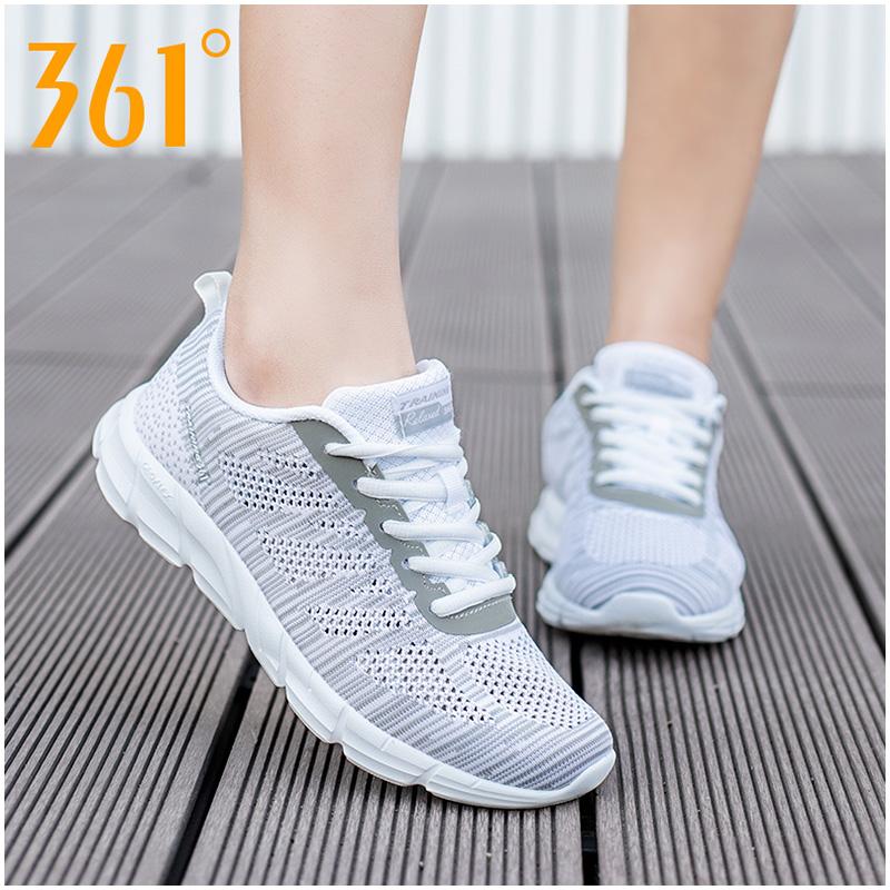 361度女鞋跑步鞋2019夏季新款网面透气正品慢跑鞋官网休闲运动鞋
