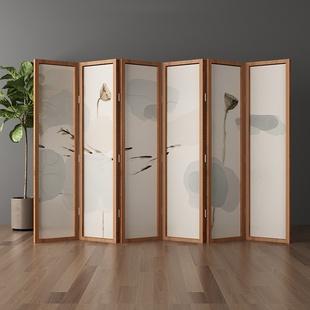 屏风隔断客厅折叠移动简约现代实木简易酒店装饰新中式办公室折屏
