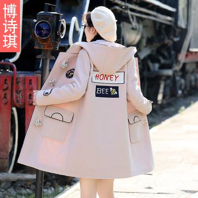 学生冬装毛呢外套少女加厚中长款韩版学院风初高中生羊毛呢大衣女