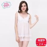 【新品】bodypops商场同款可爱甜美V领吊带睡衣裙BCFL723B11