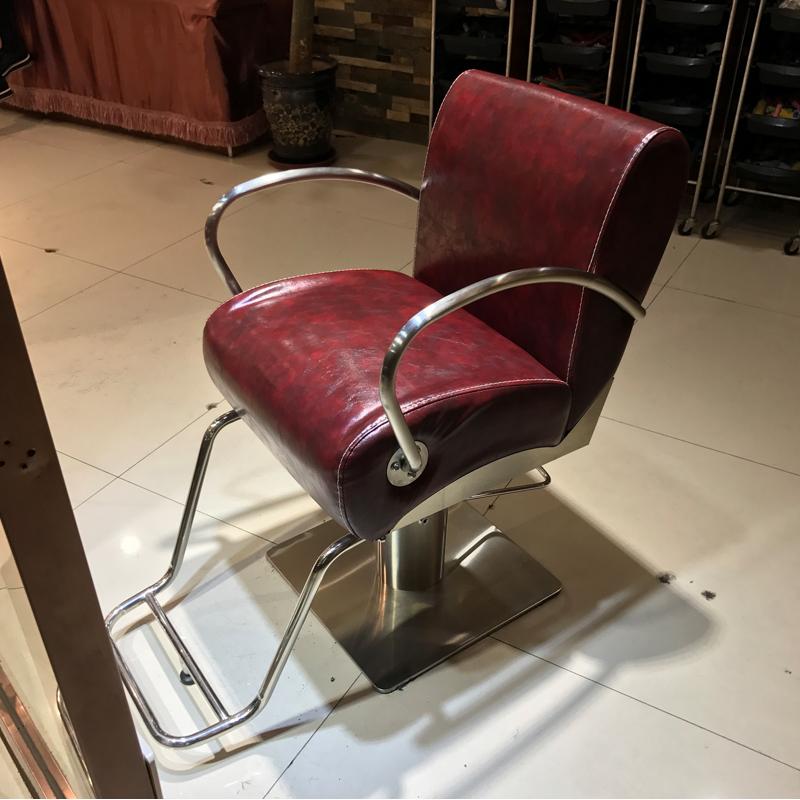 新颖美发椅美发店剪发椅发廊美发椅液压椅升降美发椅子黑