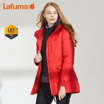 法国LAFUMA乐飞叶女士户外旅行中长款保暖鹅绒羽绒服LFJ06DC75