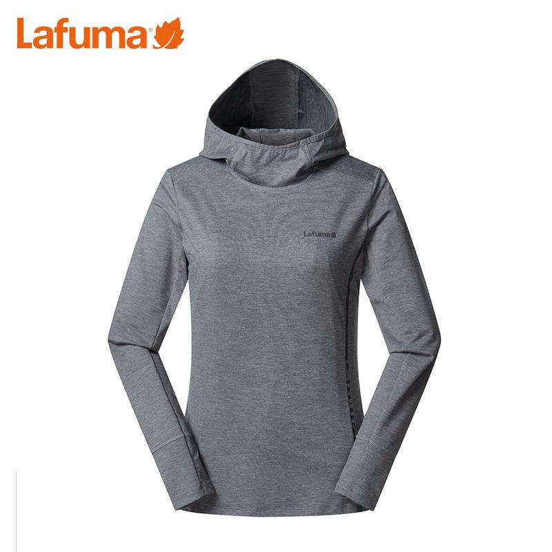 LAFUMA乐飞叶女士户外跑步健身弹力连帽运动长袖T恤LFTS8CL81