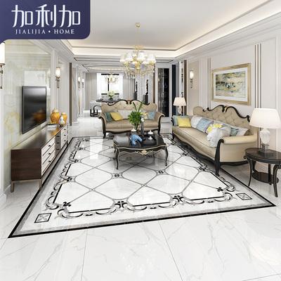 欧式客厅拼图地砖过道抛晶砖新中式无限拼地板800X800