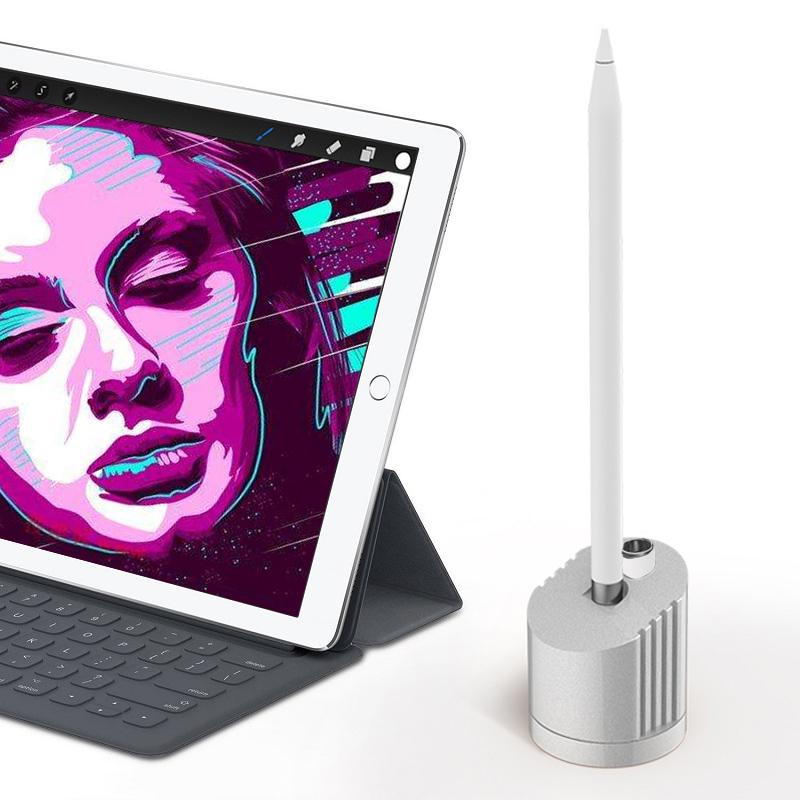 苹果Apple pencil充电底座支架ipad pro触控手写笔筒收纳盒2019新