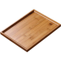 Mesni bamboo tea tray household simple tea home tray rectangular tea table tea sea large bamboo tea tray
