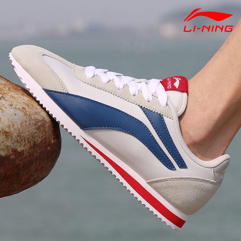 李宁男鞋运动鞋阿甘鞋男白鞋板鞋秋季2019新款休闲鞋慢跑鞋啊甘鞋