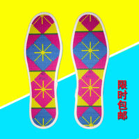 Thick line thick cross stitch insoles cotton pinhole 5 pairs of semi-finished embroidery 100% accurate printing