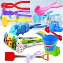 儿童玩雪玩具夹雪器雪球夹打雪仗滑雪板玩雪铲玩雪工具铲子耙子桶