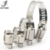 Source 304 stainless steel clamp hose clamp hoop hose buckle fast installed American pipe clamp pipe gas pipe fixed
